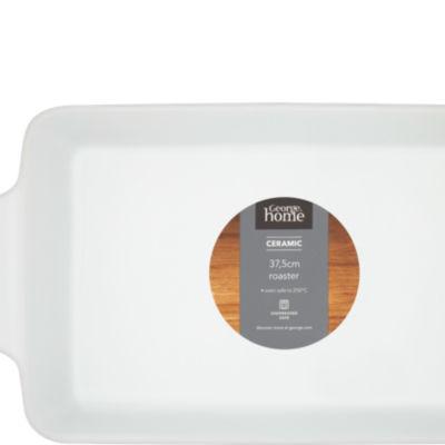 George Home Ceramic White Roaster