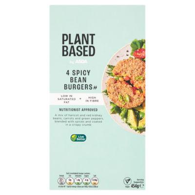 ASDA Plant Based 4 Vegan Spicy Bean Burgers