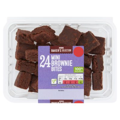 ASDA Baker's Selection 24 Mini Brownie Bites