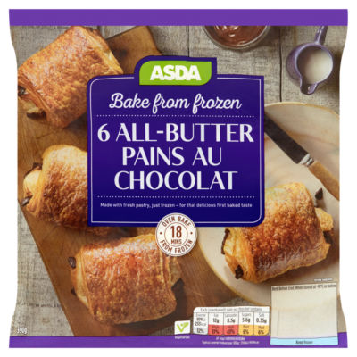 ASDA Bake from Frozen 6 All-Butter Pains Au Chocolat