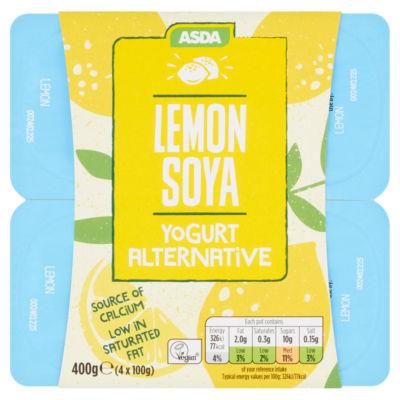ASDA Free From Lemon Soya Yogurts