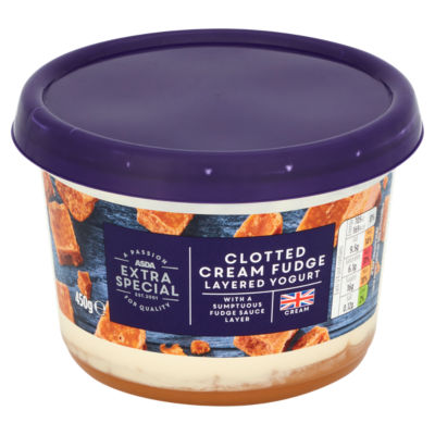 ASDA Extra Special Clotted Cream Fudge Layered West Country Yogurt