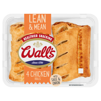 Wall's 4 Lean & Mean Chicken Rolls with Sage & Onion