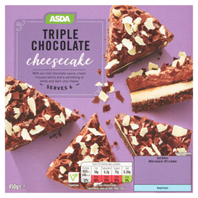 ASDA Triple Chocolate Cheesecake Serves 6