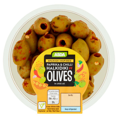 ASDA Smoky Paprika & Chilli Halkidiki Olives