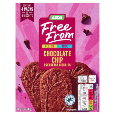 ASDA Free From Chocolate Chip Breakfast Biscuits