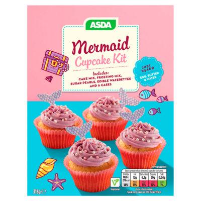 ASDA Mermaid Cupcake Kit