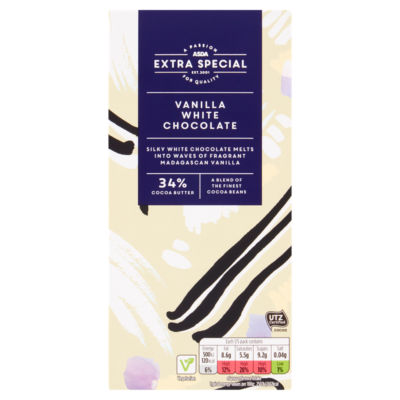 ASDA Extra Special Special Vanilla White Chocolate Bar