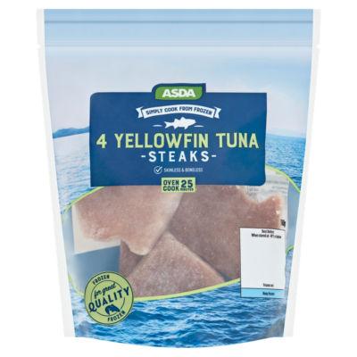 ASDA 4 Yellowfin Tuna Steaks