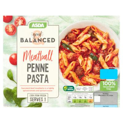 ASDA Good & Balanced Meatball Penne Pasta
