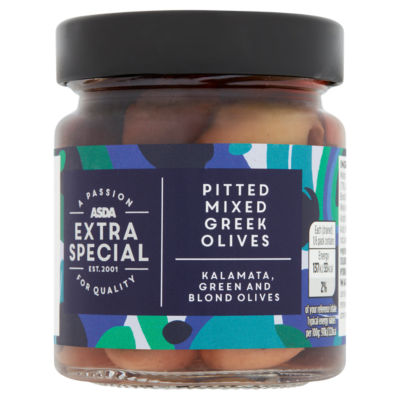 ASDA Extra Special Pitted Mixed Greek Olives