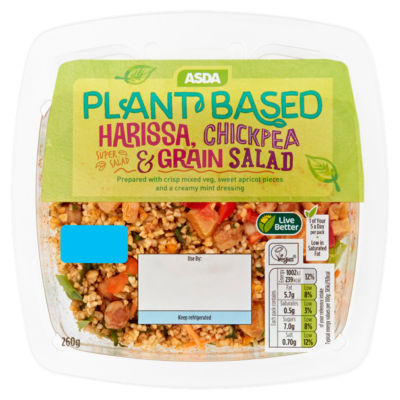 ASDA Plant Based Harissa, Chickpea & Grain Salad 260g