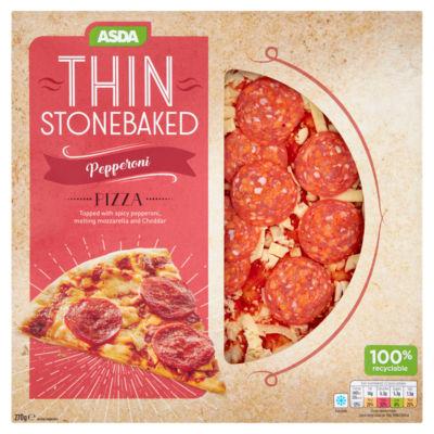 ASDA Thin Stonebaked Pepperoni Pizza