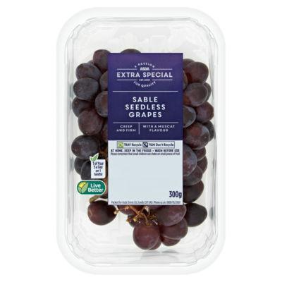 ASDA Extra Special Sable Seedless Grapes