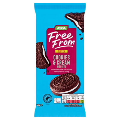 ASDA Free From Cookies & Cream Biscuits