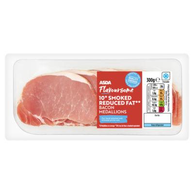 ASDA Butcher's Selection 10 Reduced Fat Smoked Bacon Medallions