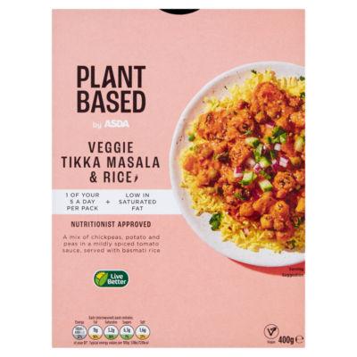 ASDA Plant Based Veggie Tikka Masala & Rice