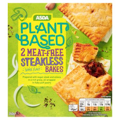 ASDA Plant Based 2 Meat-Free Steakless Bakes