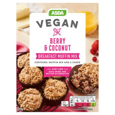 ASDA Vegan Berry & Coconut Breakfast Muffin Mix