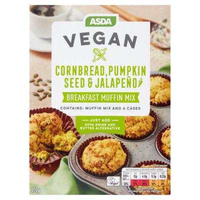 ASDA Vegan Cornbread, Pumpkin Seed & Jalapeño Breakfast Muffin Mix