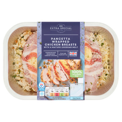 ASDA Extra Special Pancetta Wrapped Chicken Breasts with a Mature Cheddar Melt