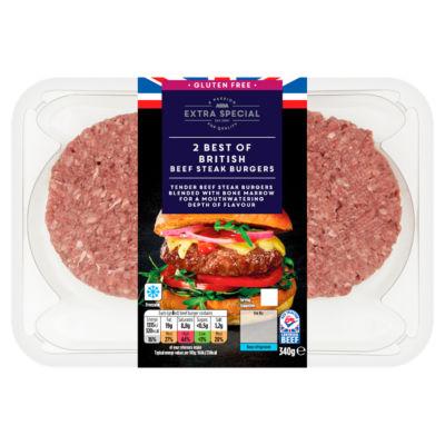 ASDA Extra Special Best of British Beef Steak Burgers