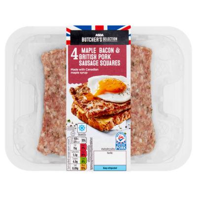 ASDA Butcher's Selection Maple Bacon & 4 British Pork Sausage Squares