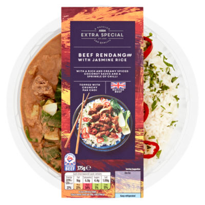 ASDA Extra Special British Beef Rendang with Jasmine Rice
