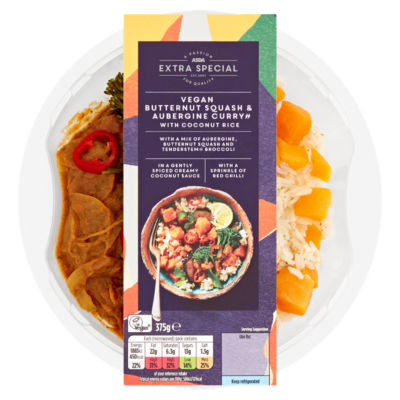 ASDA Extra Special Vegan Butternut Squash & Aubergine Curry with Coconut Rice