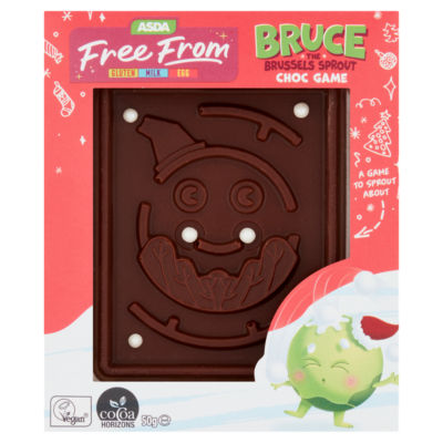 ASDA Free From Free From Bruce the Brussels Sprout Choc Game