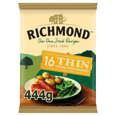 Richmond 16 Thin Frozen Pork Sausages