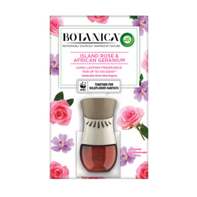 Air Wick Botanica Electrical Plug In Kit, French Lavender and Honey Blossom - Holder & 1 Refill