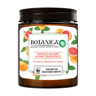 Air Wick Botanica Naturally Derived Wax Candle, Moroccan Mint & Pink Grapefruit