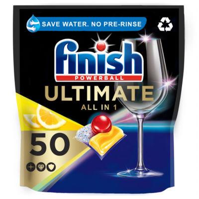 Finish Powerball Quantum Ultimate Sparkle Dishwasher Tablets, Lemon Scent