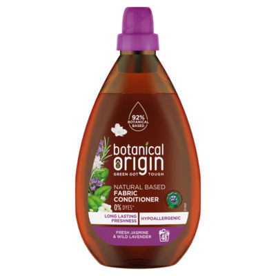 Botanical Origin Concentrated Eco Fabric Conditioner, Fresh Jasmine & Lavender 48 Washes