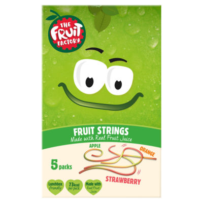 The Fruit Factory Fruit Strings Strawberry, Apple and Orange 5 Pack