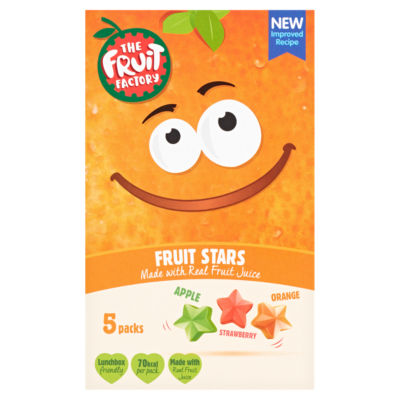 The Fruit Factory Fruit Stars Strawberry, Apple and Orange 5 Pack