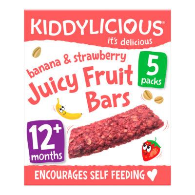 Kiddylicious Banana & Strawberry Juicy Fruit Bars 12+ Months