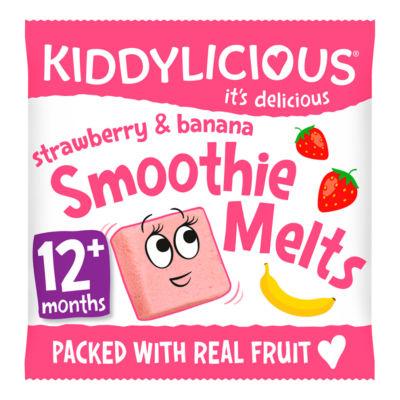 Kiddylicious Strawberry & Banana Smoothie Melts 12+ Months
