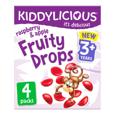 Kiddylicious Raspberry & Apple Fruity Drops 3+ Years