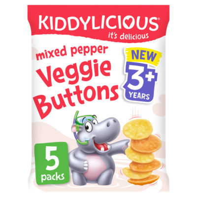 Kiddylicious Mixed Pepper Veggie Buttons 3+ Years