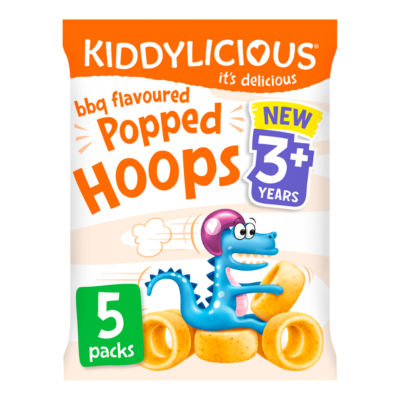 Kiddylicious Popped Hoops BBQ Flavour 3+ Years