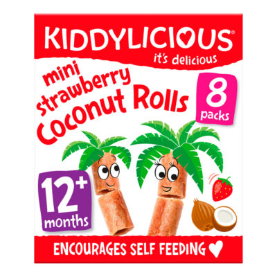 Kiddylicious Mini Strawberry Coconut Rolls 12+ Months