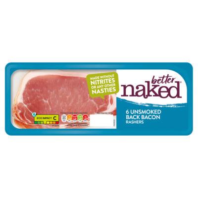 Finnebrogue Naked Bacon 6 Unsmoked Back Bacon Rashers