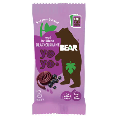 BEAR Fruit Yoyos Blackcurrant