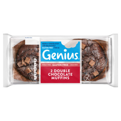 Genius Gluten Free 2 Double Chocolate Muffins