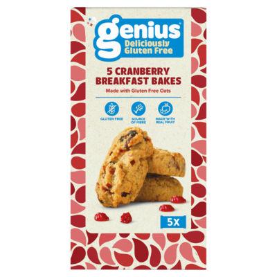 Genius Gluten Free Breakfast Bakes Cranberry & Oat