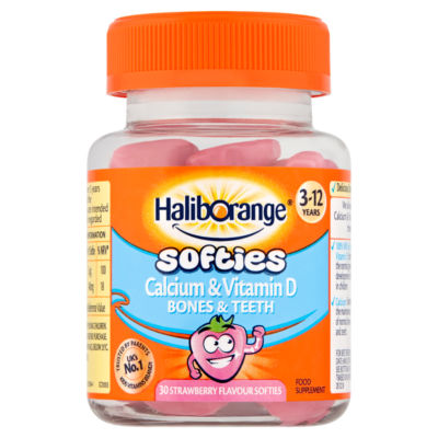 Haliborange Calcium & Vitamin D 30 Strawberry Flavour Softies 3 - 12 Years