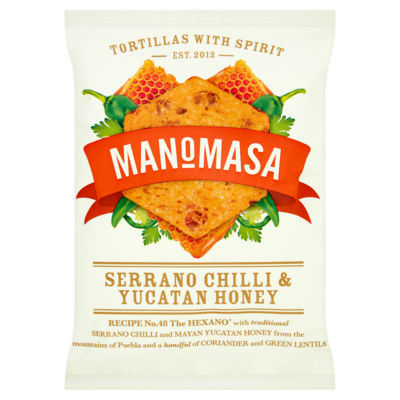 Manomasa Serrano Chilli & Yucatan Honey Sharing Corn Chips