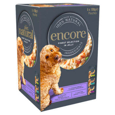 Encore Finest Collection in Jelly Adult Dog Food Pouches